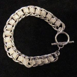 Jewelry - Men / women's Chainmaile style silver bracelet